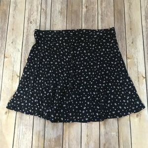 Cotton On Navy Floral Daisy Skirt Small Button